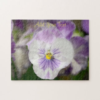 Purple and White Violas by Shirley Taylor Jigsaw Puzzle