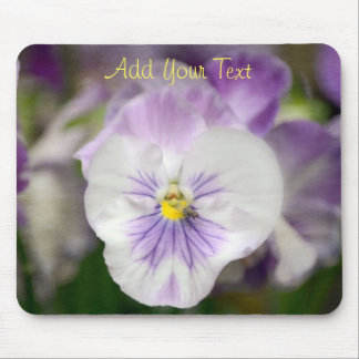 Purple and White Violas by Shirley Taylor Mouse Pad