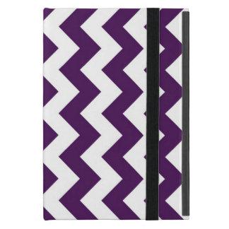 Purple and White Zigzag Covers For iPad Mini