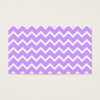 Purple and White Zigzag Stripes. Business Card