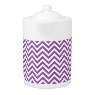 Purple and White Zigzag Stripes Chevron Pattern