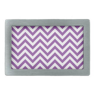 Purple and White Zigzag Stripes Chevron Pattern Belt Buckles