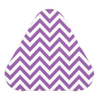 Purple and White Zigzag Stripes Chevron Pattern Blueooth Speaker