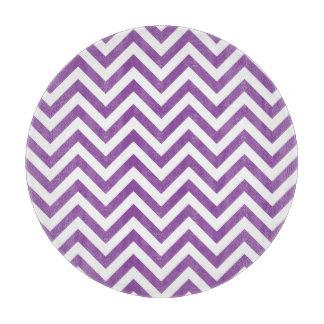 Purple and White Zigzag Stripes Chevron Pattern Boards