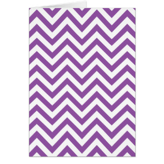 Purple and White Zigzag Stripes Chevron Pattern Card