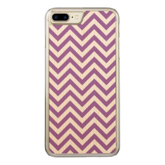 Purple and White Zigzag Stripes Chevron Pattern Carved iPhone 8 Plus/7 Plus Case
