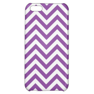 Purple and White Zigzag Stripes Chevron Pattern Cover For iPhone 5C