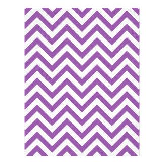 Purple and White Zigzag Stripes Chevron Pattern Flyer