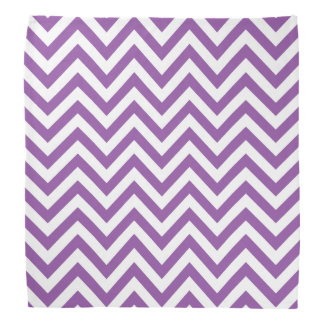 Purple and White Zigzag Stripes Chevron Pattern Head Kerchiefs