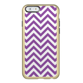 Purple and White Zigzag Stripes Chevron Pattern Incipio Feather® Shine iPhone 6 Case