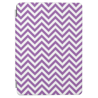 Purple and White Zigzag Stripes Chevron Pattern iPad Air Cover