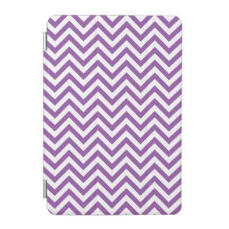 Purple and White Zigzag Stripes Chevron Pattern iPad Mini Cover