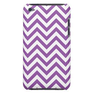 Purple and White Zigzag Stripes Chevron Pattern iPod Case-Mate Cases