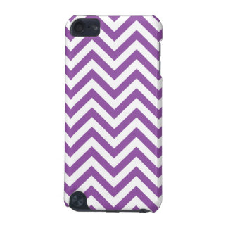 Purple and White Zigzag Stripes Chevron Pattern iPod Touch 5G Cover