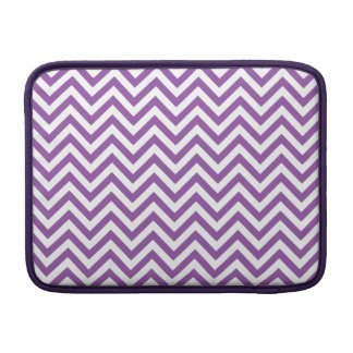 Purple and White Zigzag Stripes Chevron Pattern MacBook Sleeve