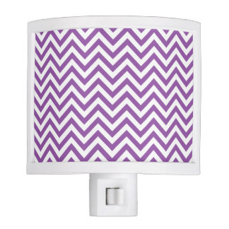 Purple and White Zigzag Stripes Chevron Pattern Night Lites