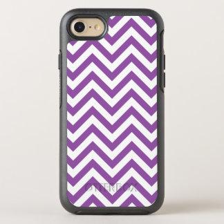 Purple and White Zigzag Stripes Chevron Pattern OtterBox Symmetry iPhone 7 Case