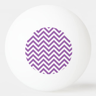 Purple and White Zigzag Stripes Chevron Pattern Ping Pong Ball