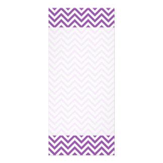 Purple and White Zigzag Stripes Chevron Pattern Rack Card