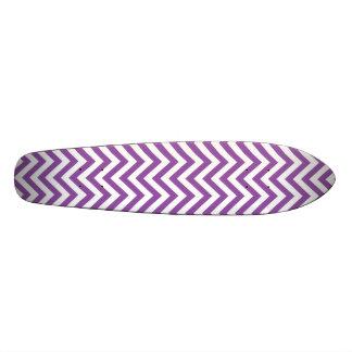 Purple and White Zigzag Stripes Chevron Pattern Skateboards
