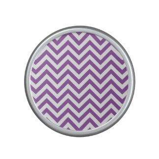 Purple and White Zigzag Stripes Chevron Pattern Speaker