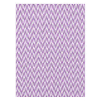 Purple and White Zigzag Stripes Chevron Pattern Tablecloth