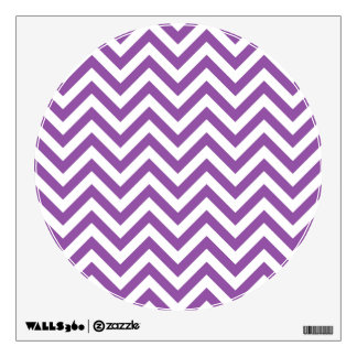 Purple and White Zigzag Stripes Chevron Pattern Wall Decal