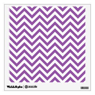 Purple and White Zigzag Stripes Chevron Pattern Wall Sticker