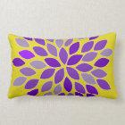 Purple and Yellow Chrysanthemum Flower Pillow
