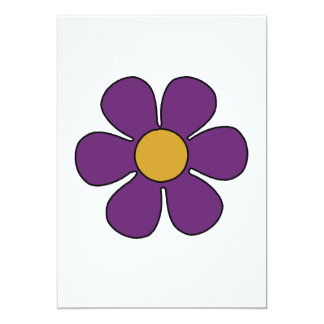 Purple and Yellow Daisy Invitations