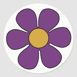Purple and Yellow Daisy Stickers
