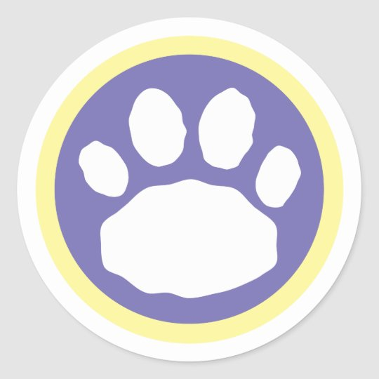 Purple and Yellow Easter Classic Round Sticker