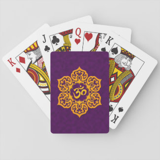 Purple and Yellow Lotus Flower Om Card Decks