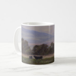 Purple and Yellow Mountains with Cows Mug