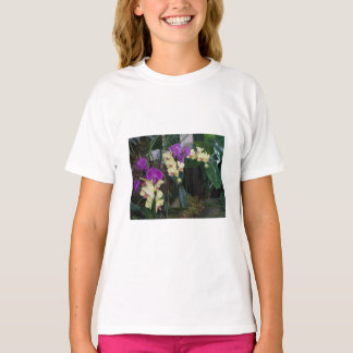 Purple and Yellow Orchids Kids T-shirt