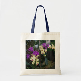 Purple and Yellow Orchids Tote Bag