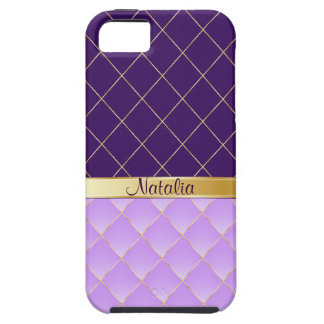 Purple and yellow pattern case for the iPhone 5