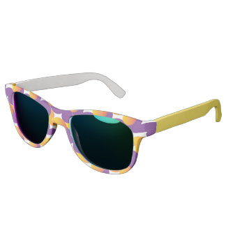 Purple and Yellow Pattern Colorful Design Sunglasses