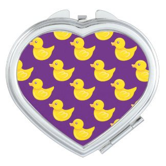 Purple and Yellow Rubber Duck, Ducky Travel Mirror