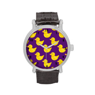 Purple and Yellow Rubber Duck, Ducky Watches
