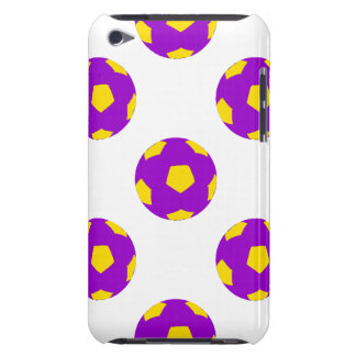 Purple and Yellow Soccer Ball Pattern Barely There iPod Cover
