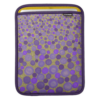 Purple and Yellow Spotted iPad Sleeve