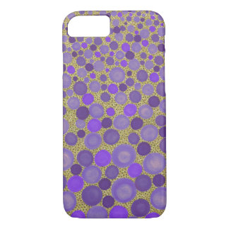 Purple and Yellow Spotted iPhone 7 Case