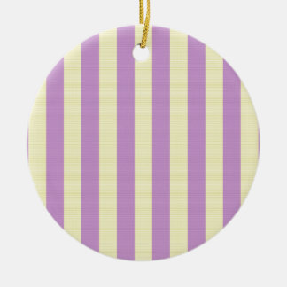 Purple and yellow stripes pattern ceramic ornament