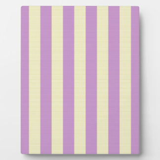 Purple and yellow stripes pattern plaque