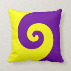 Purple and Yellow Twirl Throw Pillow