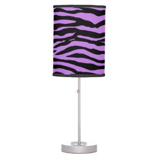 Purple and Zebra Stripes Table Lamp