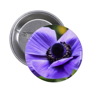 Purple Anemone 2 Inch Round Button