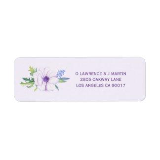 Purple Anemone Spring Floral