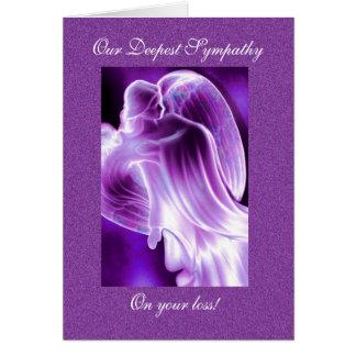 Purple Angel Sympathy Card